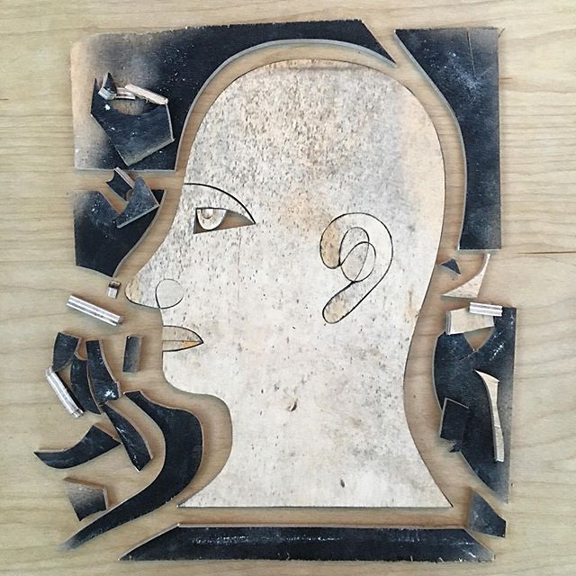 What Is Man on a Placemat Cut Out of Wood #whatisman #whatismanthatthouartmindfulofhim #woodart #cutoutart #têtedhomme #tetedhomme #sculpturestudy #naplesart #naplesfl