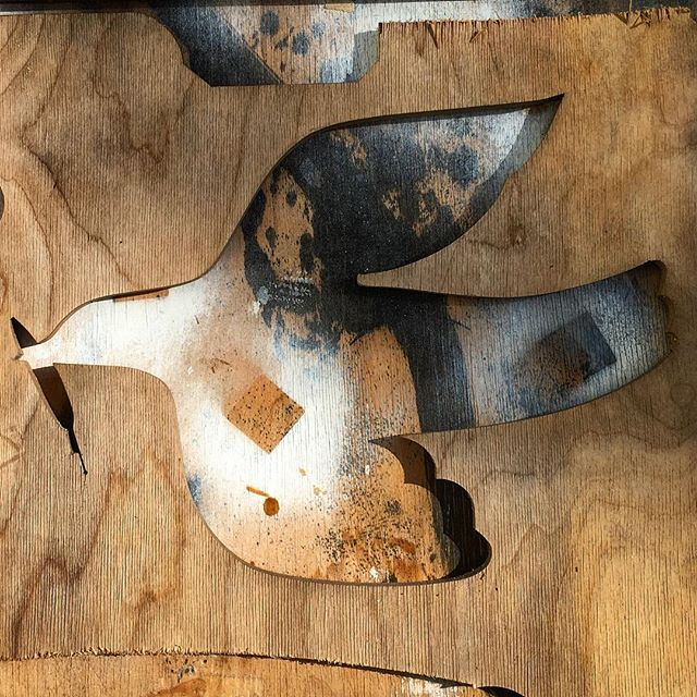 Dove, Step One #dove #cutoutart #woodart #peacedove #peace #oliveleaf #genesis811 #elvisswiftdrygoods #naplesart #naplesfl