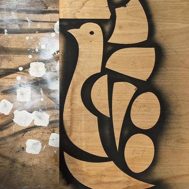 Seven Pieces - ready to cut #sevenpieces #sevenparts #birdparts #cutoutart #woodenart #sculpture #sculpturestudy #colorfield #colorfieldart #naplesart #naplesfl