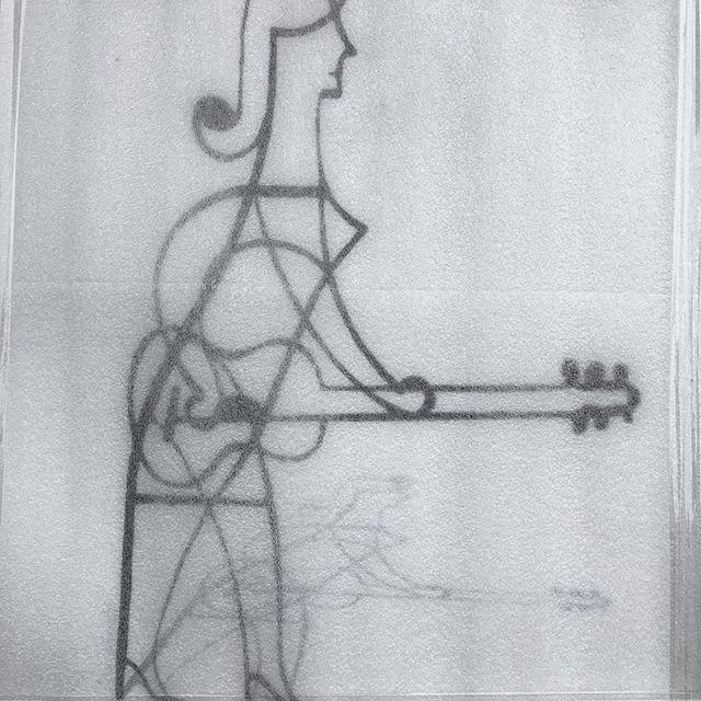 Girl With Guitar under wraps #girlwithguitar #fineartprint #artgalleryart #inkart #inkdrawing #guitarsarebetter #bluesguitar #elvisswiftdrygoods #naplesart #naplesfl
