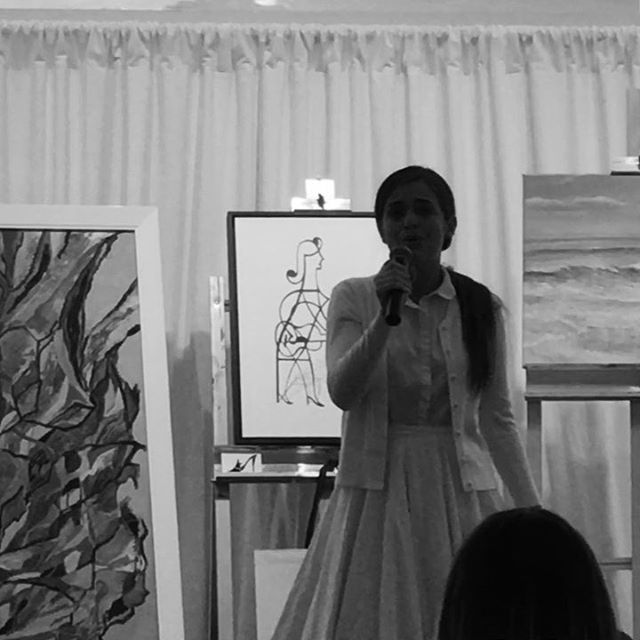 Girl With Guitar with vocal accompaniment at Big Impressions by Little Artists 2019, Fundraising Gala #collierchildcareresources #naplesartassociation #naplesart #hopelesslydevotedtoyou #naplesfl