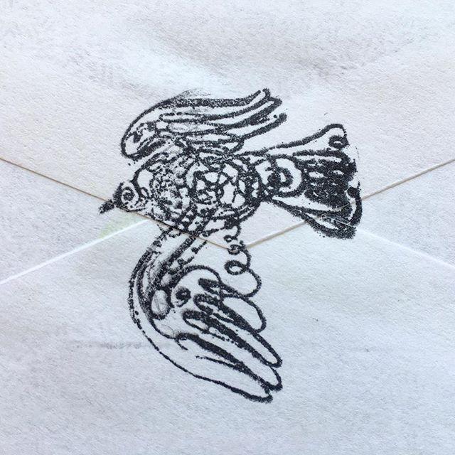 Dove Rubber Stamped on Envelope #peacedove #rubberstamp #inkart #inkdoodle #envelope #envelopecalligraphy #loveletter #naplesart #naplesfl #elvisswiftdrygoods