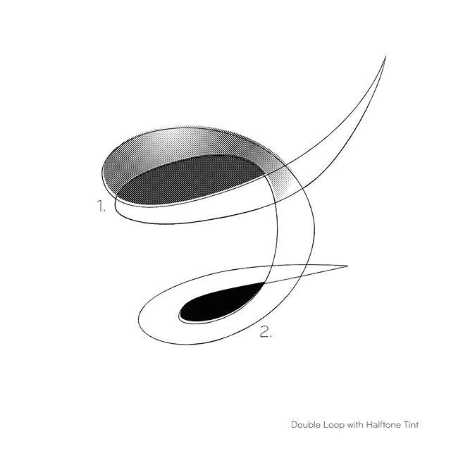 Double Loop with Halftone Tint #doubleloop #halftone #colorfield #colorfieldart #contemporaryart #sketchtofinish #organicshapes #naplesart #naplesfl