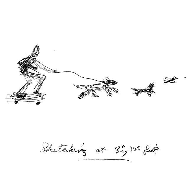 Sketching at 35,000 feet #sketchingonairplane #turbulance  #inkdrawing #adobefresco #frescoart #thechaseison #gesturedrawing #scribbling #elvisswiftdrygoods