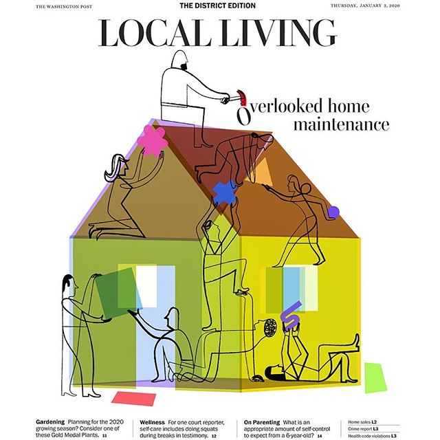 The Washington Post - Local Living #thewashingtonpost #thewashingtonpostmagazine #localliving #houserepair #homerepair #fixingit #colorsgalore #washingtondc #joaniebernsteinartrep #elvisswift #naplesfl