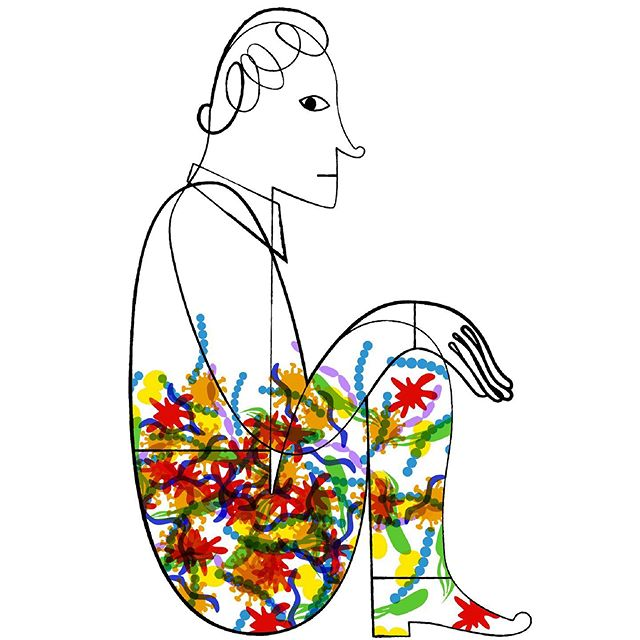 The Human Microbiome - Human microbiome churns out thousands of tiny novel proteins. Stanford University School of Medicine. Ami Bhatt #thehumanmicrobiome #stanfordmedical #germs #microbes #illustration #joaniebernsteinartrep #inkdrawing #colorsgalore #stanfordca #naplesart #naplesflorida