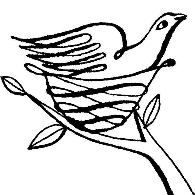 Bird House #birdhouse #nest #nestinatree #inkart #inkdrawing #inkandpen #penandink #naplesart #naplesartist #naplesfl