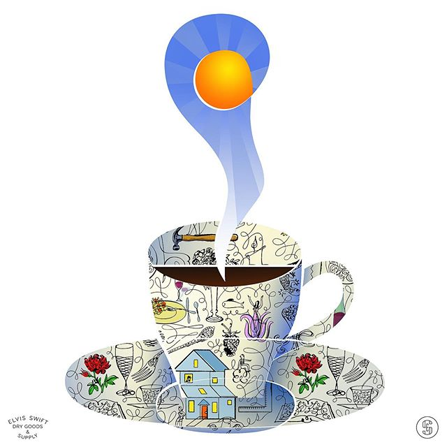 Quote of the Week - You know I like my coffee sweet in the morning, and I'm crazy about my tea at night.-Stevie Ray Vaughan #SRV #stevierayvaughan #mayihaveatalkwithyou #lovemedarlin #chesterarthurburnett #sweetcoffee #nighttimetea #elvisswiftdrygoods #naplesart #naplesfl