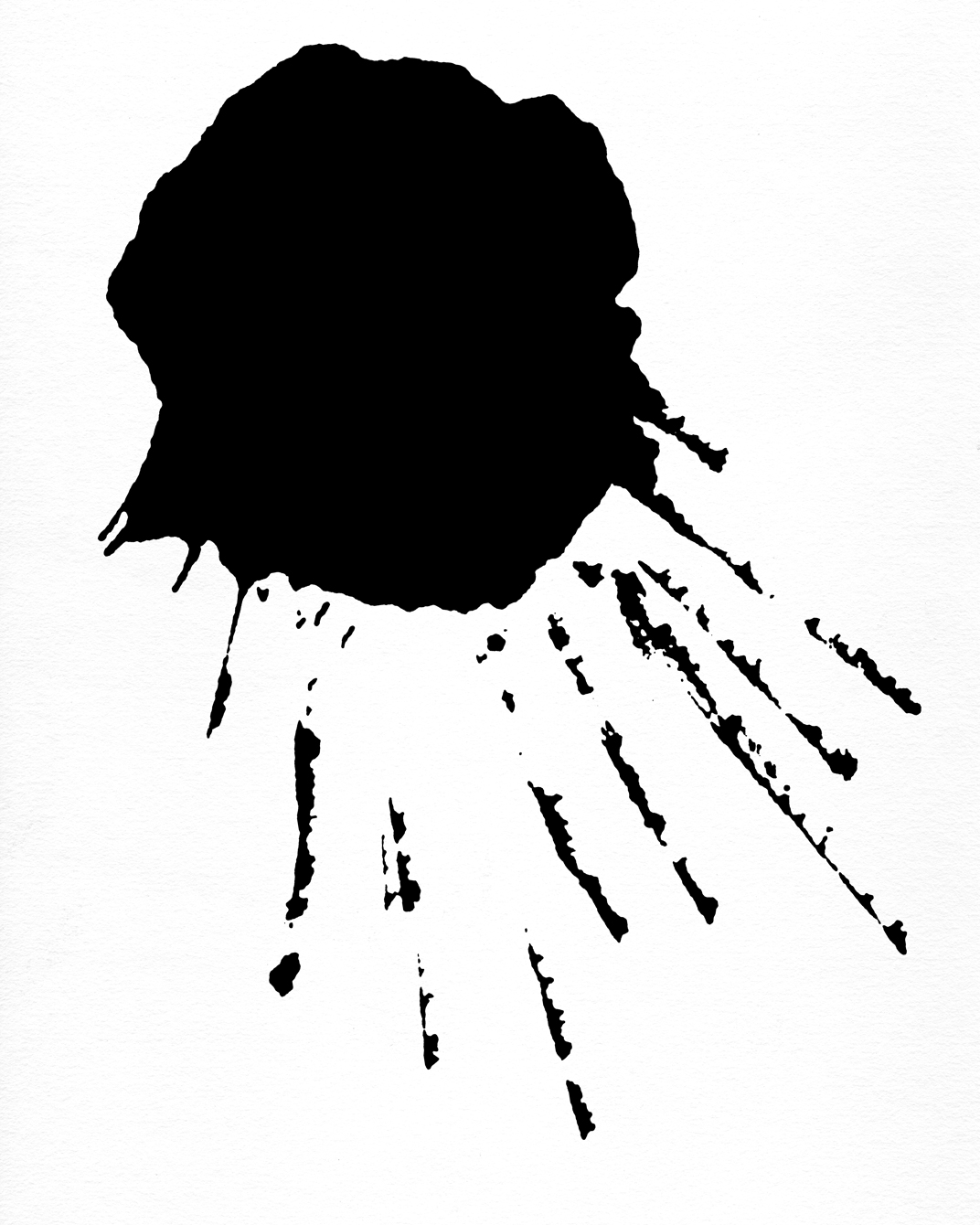 how to draw ink splatter